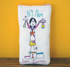 Number One Mum Glasses Case - more