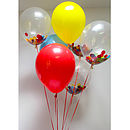 Party Confetti And Coloured Balloons
