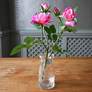 Artificial Rose In Mini Milkbottle