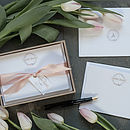 Bespoke Luxury Floral Correspondence Cards