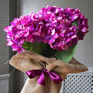 Bunch Of Large Purple Artificial Hydrangeas - parties