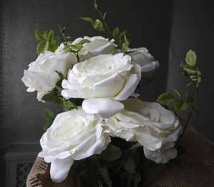 Artificial White Or Pink Rose - flowers & plants