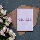 'Grazie' Thank You Card