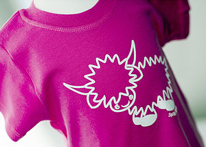 Hamish The Highland Cow T Shirt Pink