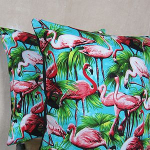 Flamingo Cushion Cover - patterned cushions
