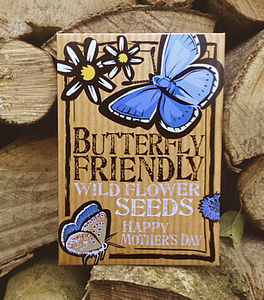 Mother's Day Butterfly Friendly Wild Flower Seeds - garden gifts for children