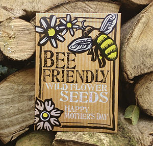 Mothers' Day Bee Friendly Wild Flower Seeds - token gifts
