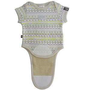 Unisex Baby Bodysuit 'Loops' With Absorbent Layer