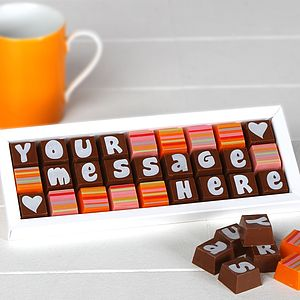 Personalised Chocolates In Medium Box - thank you gifts