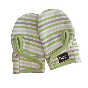 Unisex Baby Stripes Scratch Mitt - children's accessories