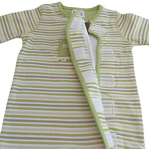 Unisex Baby Sleepsuit 'Stripes' With Velcro Fastening