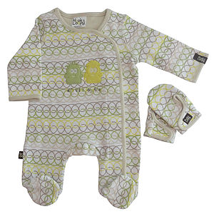 Geo Loops Sleepsuit And Mitten Gift Set