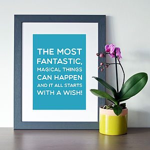 Disney 'Starts With A Wish' Quote Print - film & tv