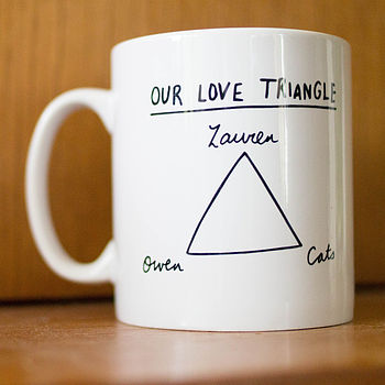 Personalised Love Triangle Mug
