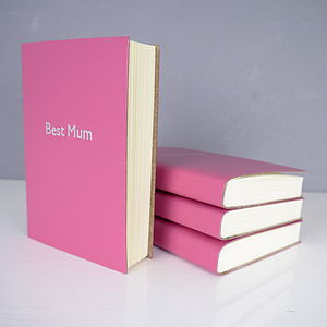 Personalised Best Mum Leather Notebook