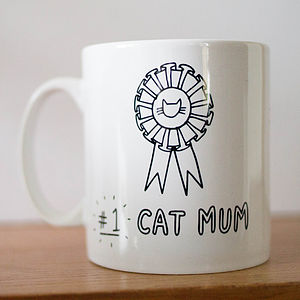 Worlds #One Cat Mum Mug - mugs