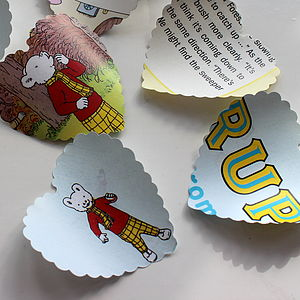 Rupert Bear Heart Table Confetti - table decorations