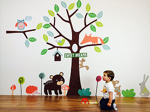 Children's Forest Friends Wall Stickers - wall stickers