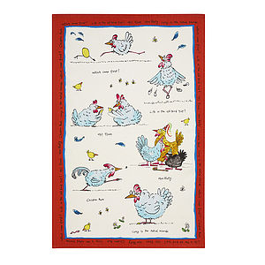 Ae Hen Party Linen Tea Towel
