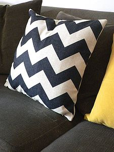 Linen Chevron Cushion - patterned cushions