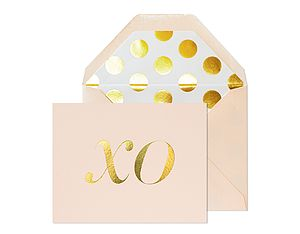 Pink Xo Gold Foil Card - shop by category