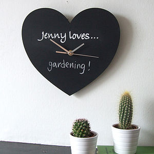 Personalised 'Loves' Blackboard Clock