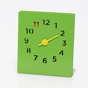 Desk Clock, Green - home accessories