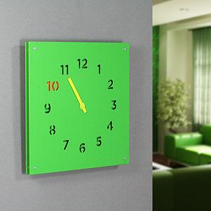 Steel Wall Clock, Green - clocks