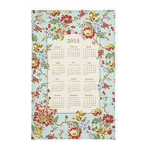 Amelia 2015 Calendar Linen Tea Towel - kitchen accessories