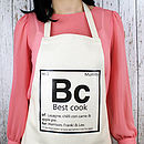 Personalised Periodic Adult Apron
