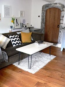 Coffee Table With Hairpin Legs - furniture