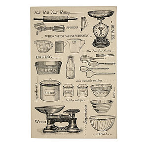 Baking Cotton Tea Towel - kitchen accessories