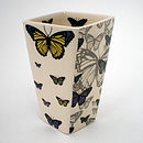 Ceramic Butterfly Vase