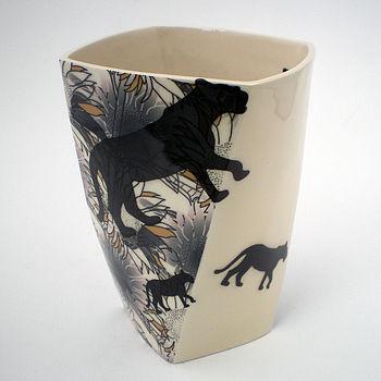 Ceramic Wide Sunflower Vase