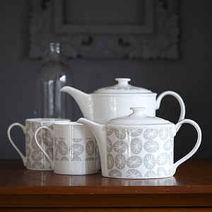 Grey Stars Flo Coffee Pot Or Teapot - kitchen
