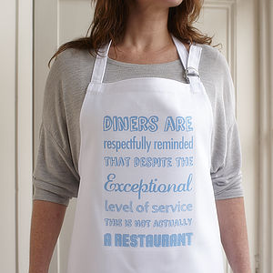 'This Is Not A Restaurant' Apron