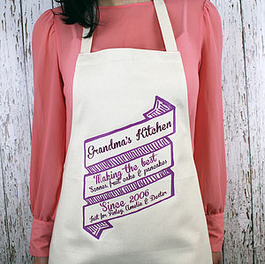 Scroll Personalised Apron - aprons