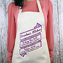 Scroll Personalised Apron
