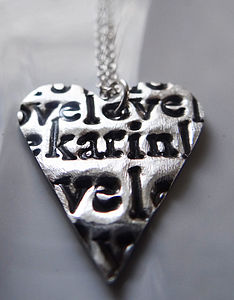 Personalised Love Heart Necklace - view all mother's day gifts