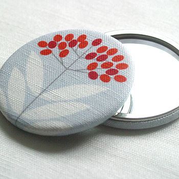 Elderberry Fabric Pocket Mirror