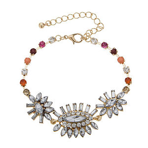 Harris Multicoloured Gold Deco Style Bracelet