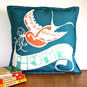 Swallow Tattoo Home Cushion Cover - patterned cushions
