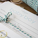 Baby Hand And Foot Inkless Print Certificate