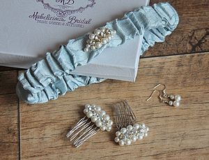 Something Blue 'Luna' Garter