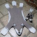 Willow Wolf Felt Animal Rug