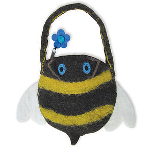 Bella Bee Felt Animal Bag