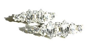 Lucille Crystal Hair Clips - wedding fashion