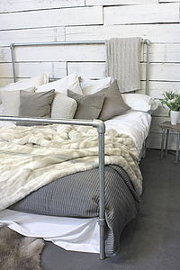 Galvanised Steel Pipe Super Kingsize Bed - home