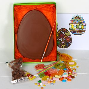 Large Chocolate Easter Egg Decorating Kit - easter eggs