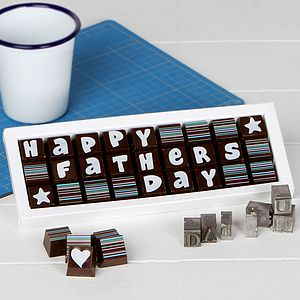 Happy Fathers Day Chocolates For Dad - novelty chocolates
